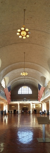 Ellis Island Main Hall of the Intake Building (now museum)
