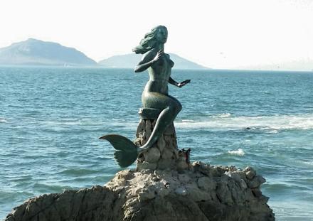 Walking along the waterfront.