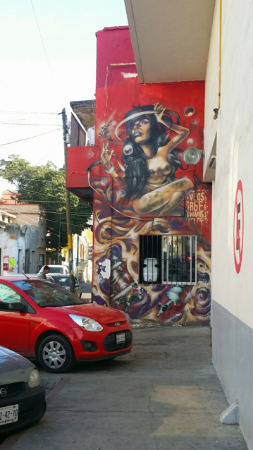 More street art, this one on the side of a tatto shop.